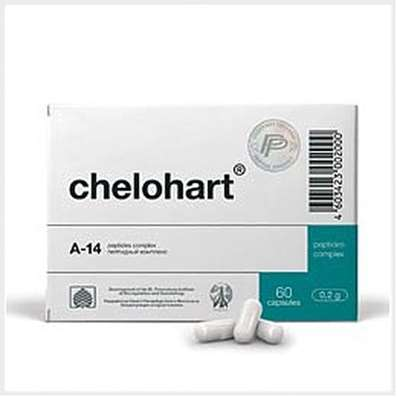 Chelohart 60 capsules peptide bioregulators for prevention of coronary heart disease