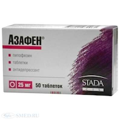 Azaphen 25mg 50 pills buy Pipofezine sedative and calming effects online